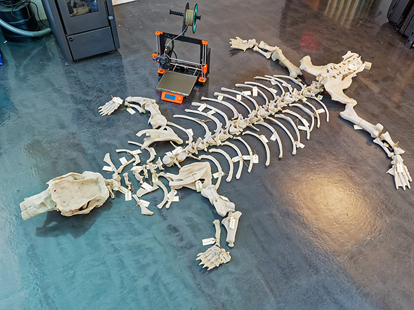The completed wombat, with Prusa Mk3 for scale