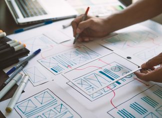 Manufacturers websites start with a thorough discovery process of information architecture and wireframing.