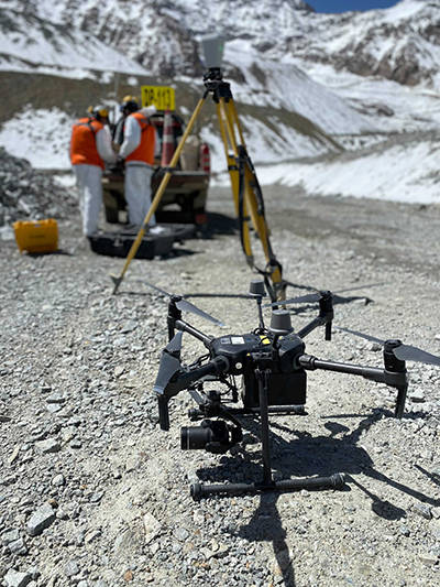 Exploring a tailings dam can be dangerous when using traditional mining practices. With drone technology, safety takes precedent.