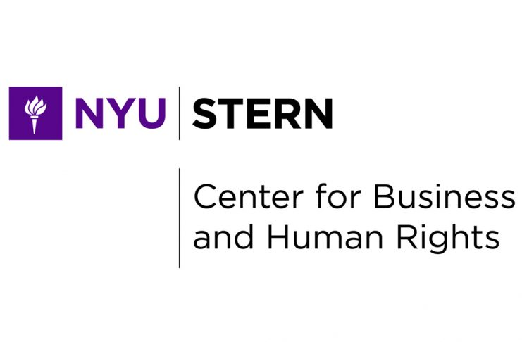 nyu stern center for business & human rights logo
